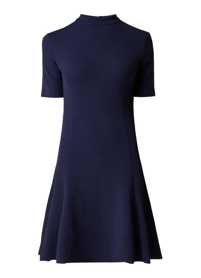 Tommy Hilfiger A-lijn jurk met siernaad donkerblauw