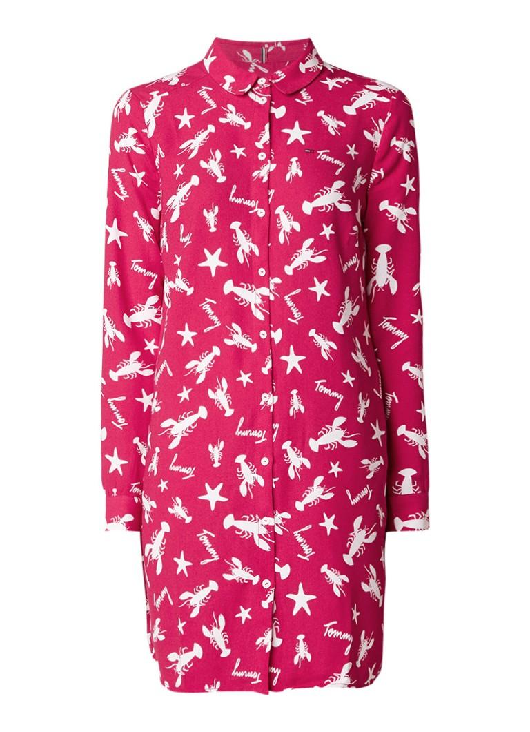 Tommy Hilfiger Blousejurk met kreeftendessin roze