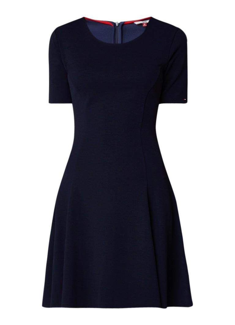 Tommy Hilfiger Essential A-lijn jurk van jersey donkerblauw