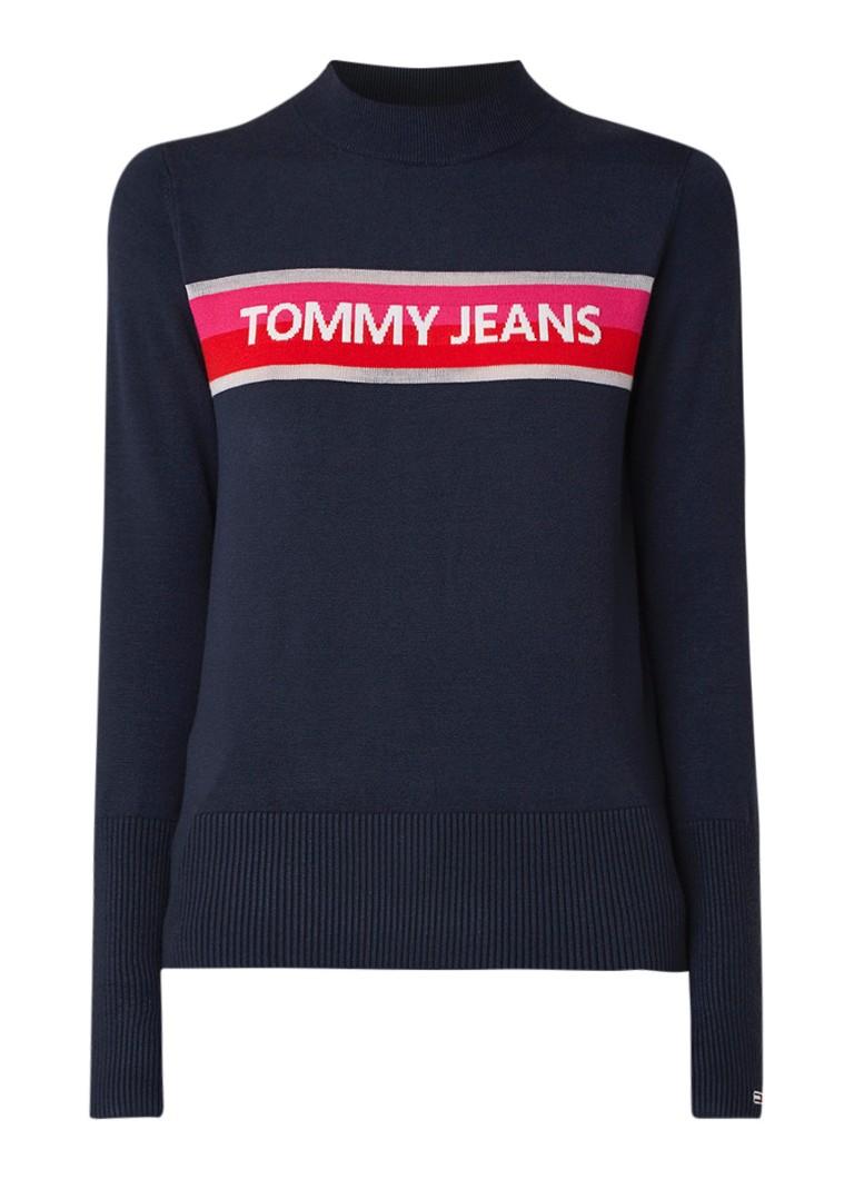 Image of Tommy Hilfiger Fijngebreide pullover met logo