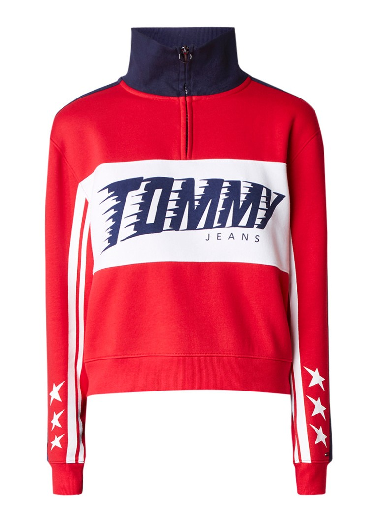 Tommy Hilfiger Racing cropped sweater met logo