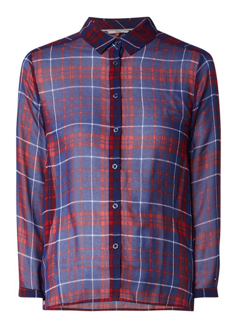 Tommy Hilfiger Semi-transparante blouse met ruitdessin