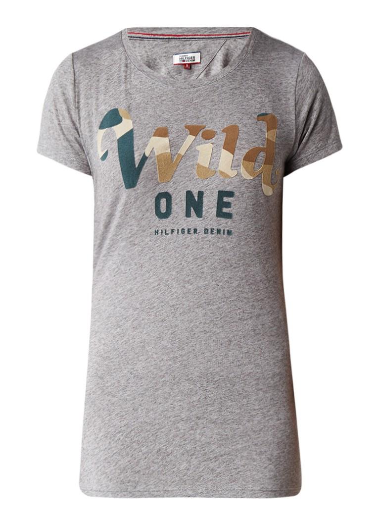 Tommy Hilfiger Wild One T-shirt met flockprint