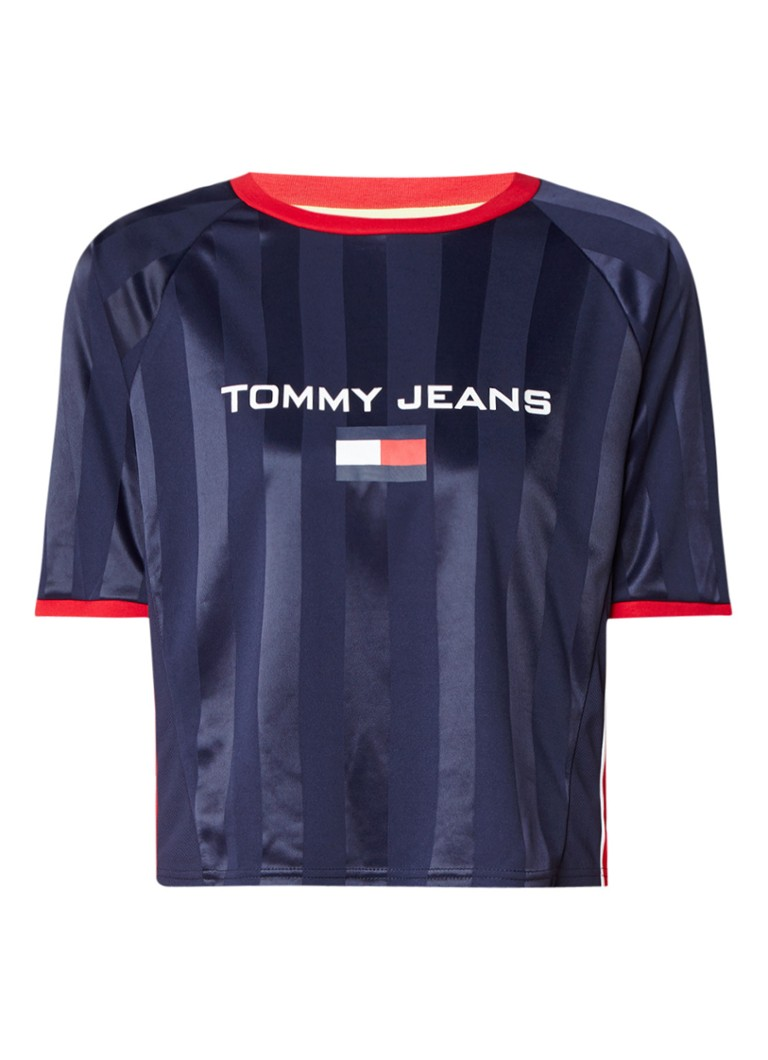 Tommy Hilfiger 90's Soccer cropped top met logoprint