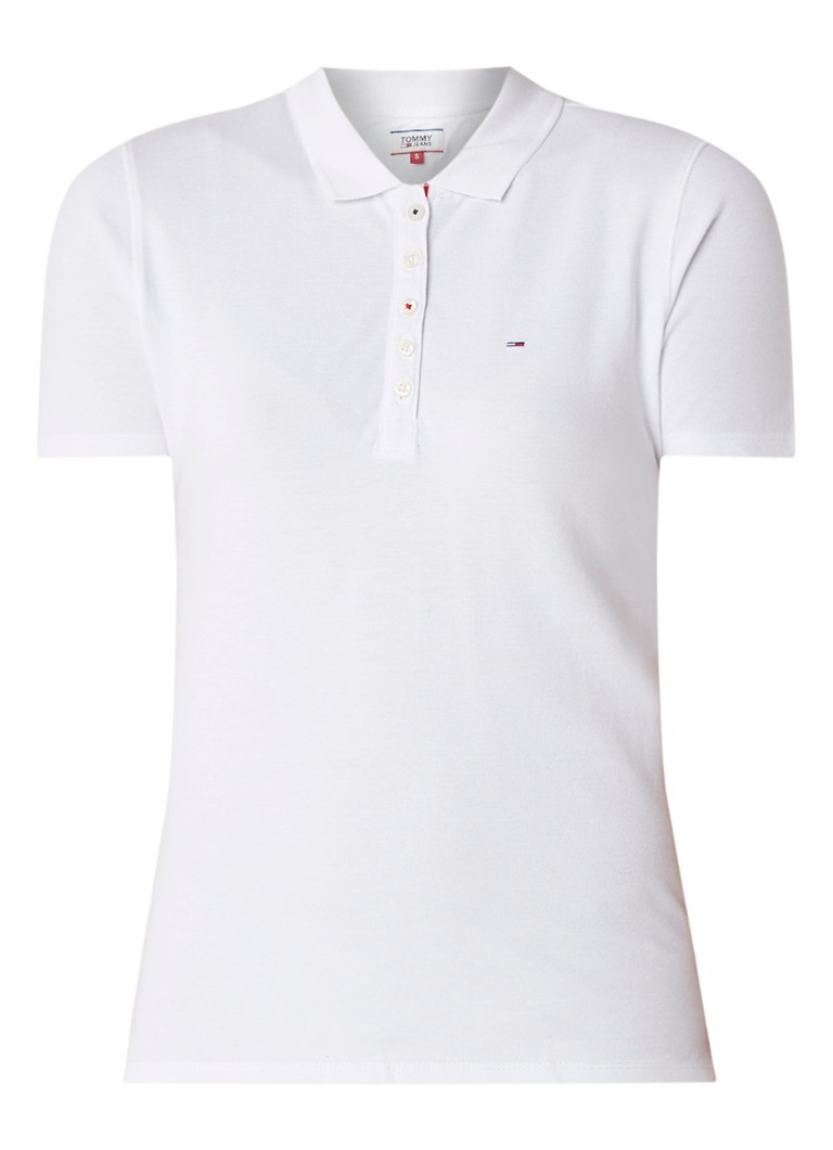 Image of Tommy Hilfiger Slim fit polo van piqué katoen