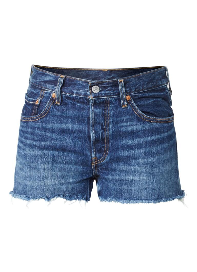Levi s 501 high rise denim shorts