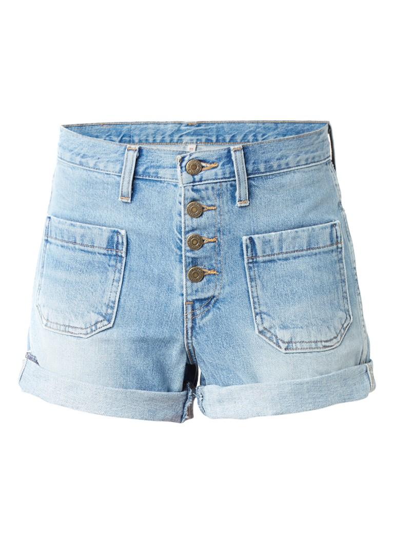 Levi's Orange Tab high waisted denim shorts