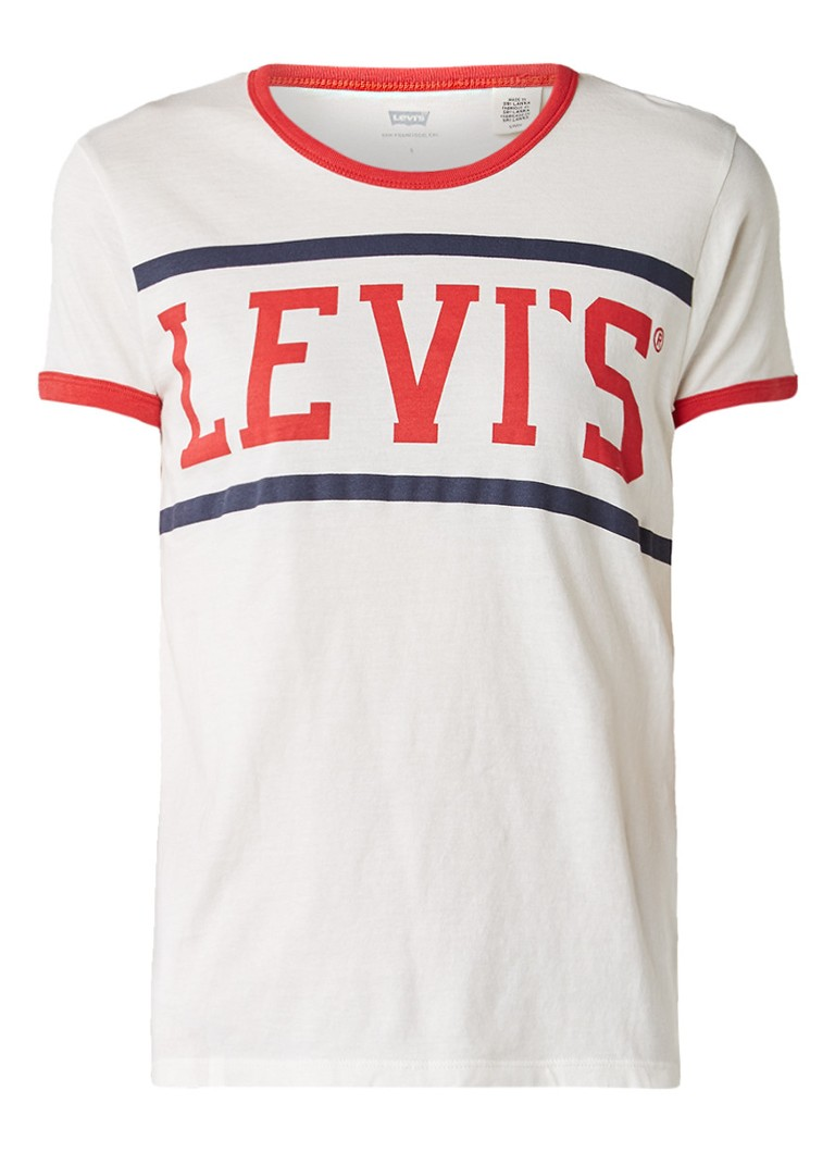 Levi's Perfect Ringer T-shirt met logoprint