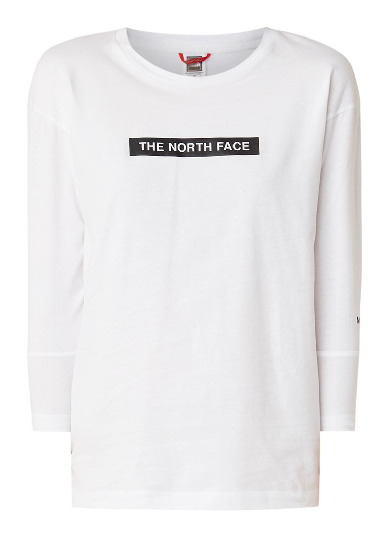Image of The North Face Longsleeve met logoprint