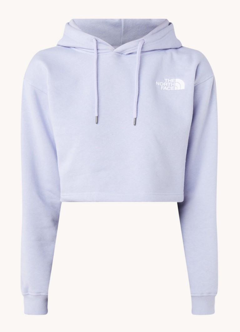The North Face Cropped hoodie met logoborduring online kopen