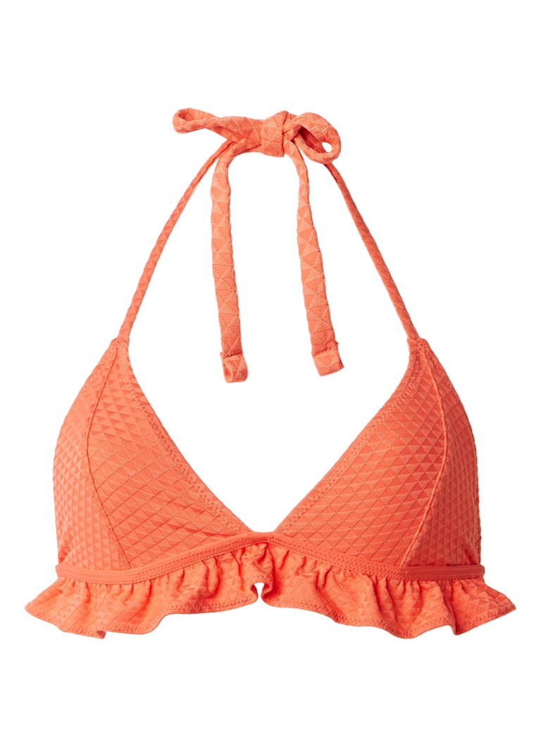 Scotch and Soda Ruffle triangel bikinitop