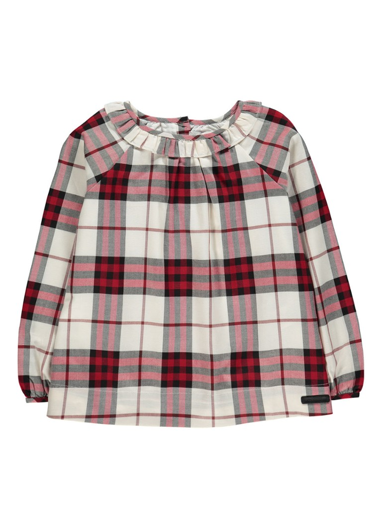 BURBERRY Karly blouse met ruitdessin