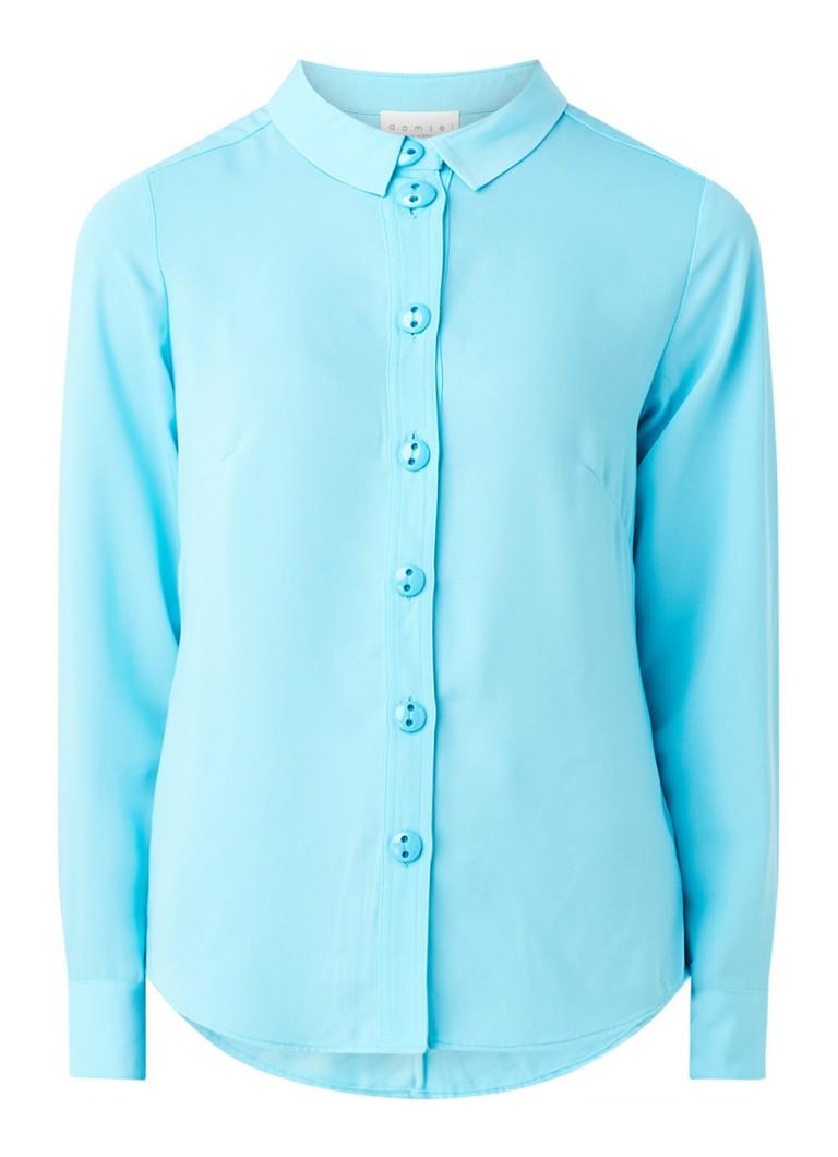 Asha blouse met sierknopen en doorgestikt patroon