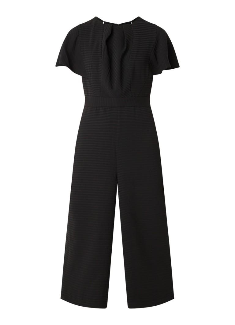 Bessie wide fit jumpsuit met cut out details en ingeweven dessin