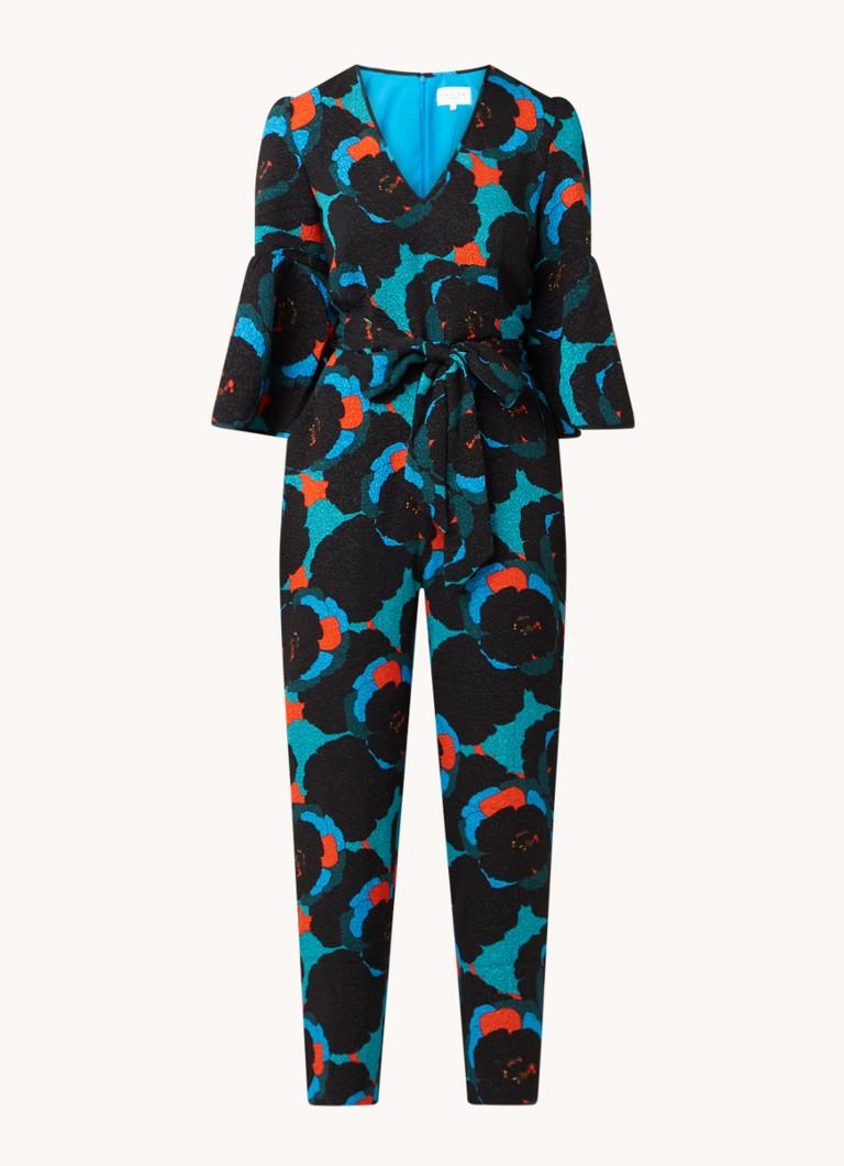 Annora straight fit jumpsuit met vlindermouw