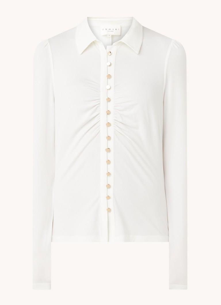 Aretha blouse met geplooid detail