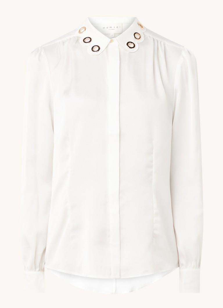 Beli blouse van satijn met geschulpte kraag