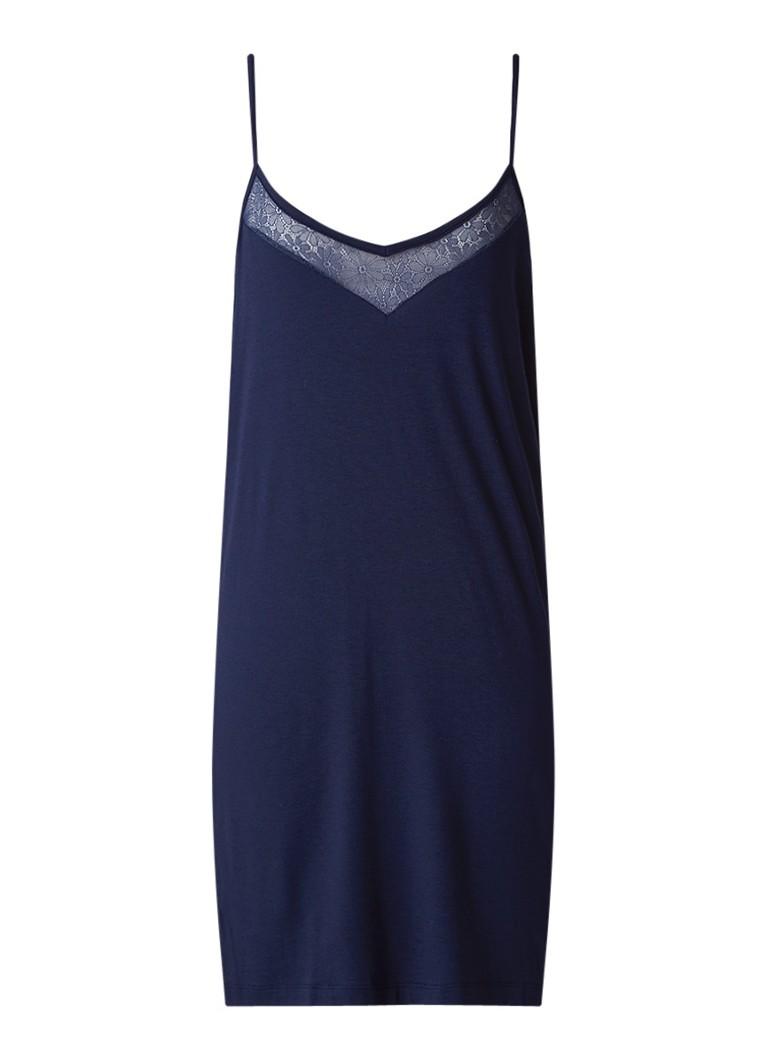 Tommy Hilfiger Jersey chemise met inzet van gebloemd kant