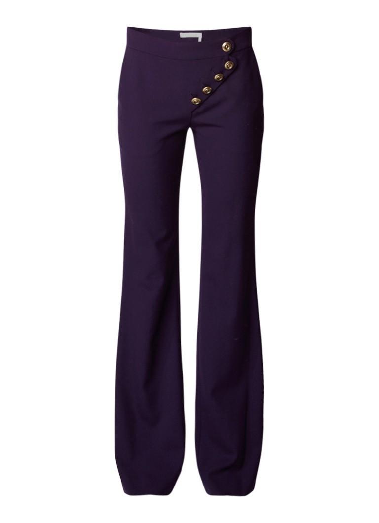 Chloé Flared pantalon van wol met knoopdetail