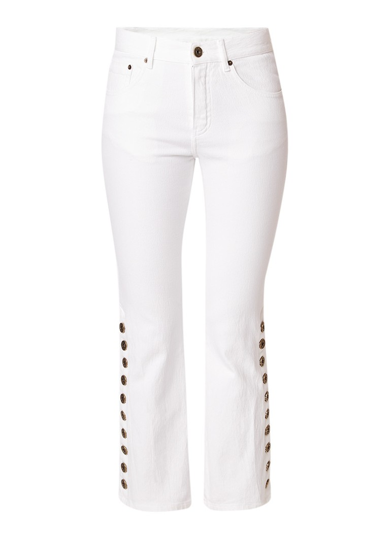 Chloé Mid rise kick flare jeans met knoopdetails