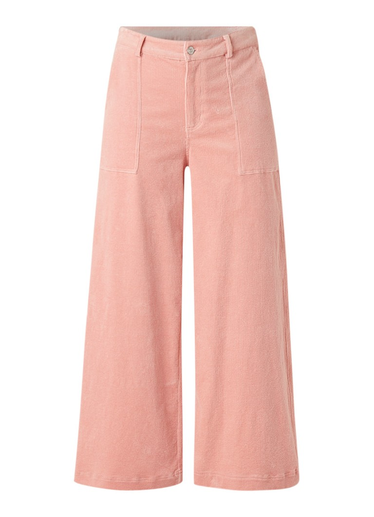 Image of Ganni Ridgewood wide fit pantalon van corduroy