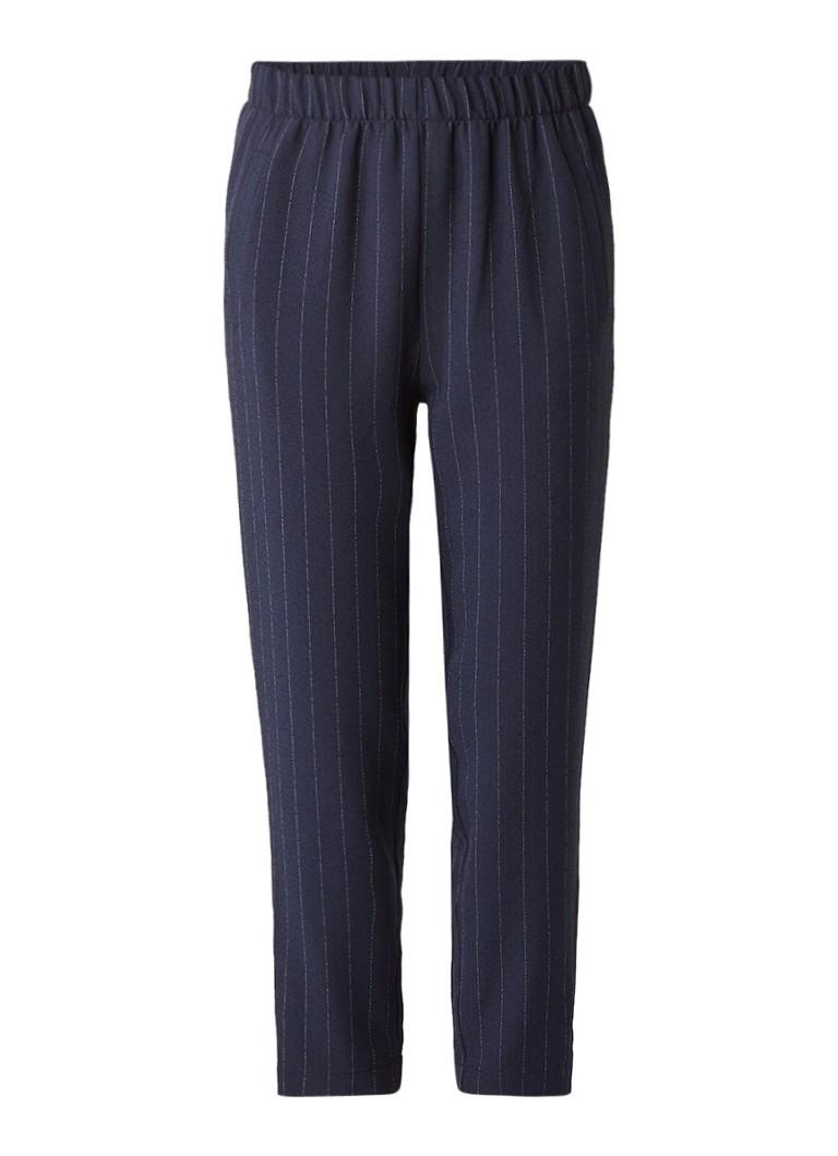 Broeken Ganni Clark loose fit pantalon met krijtstreep Donkerblauw
