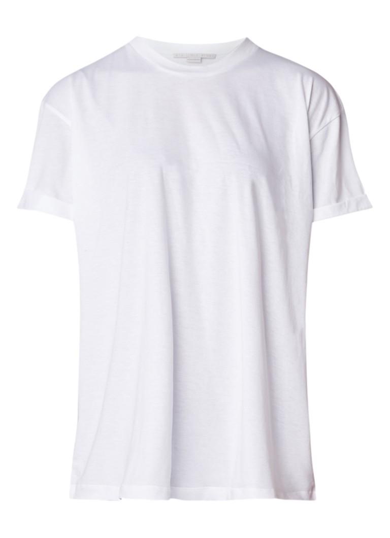 Stella McCartney T-shirt met ronde hals en logoprint