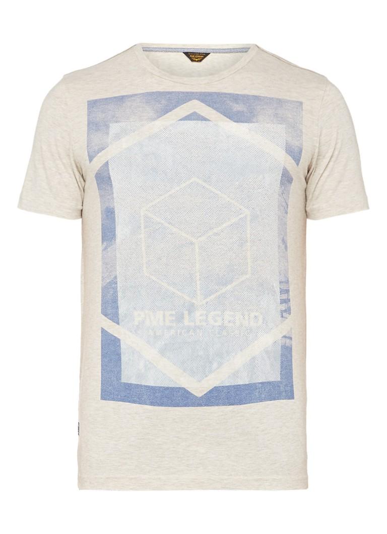 PME LEGEND T-shirt met merkopdruk