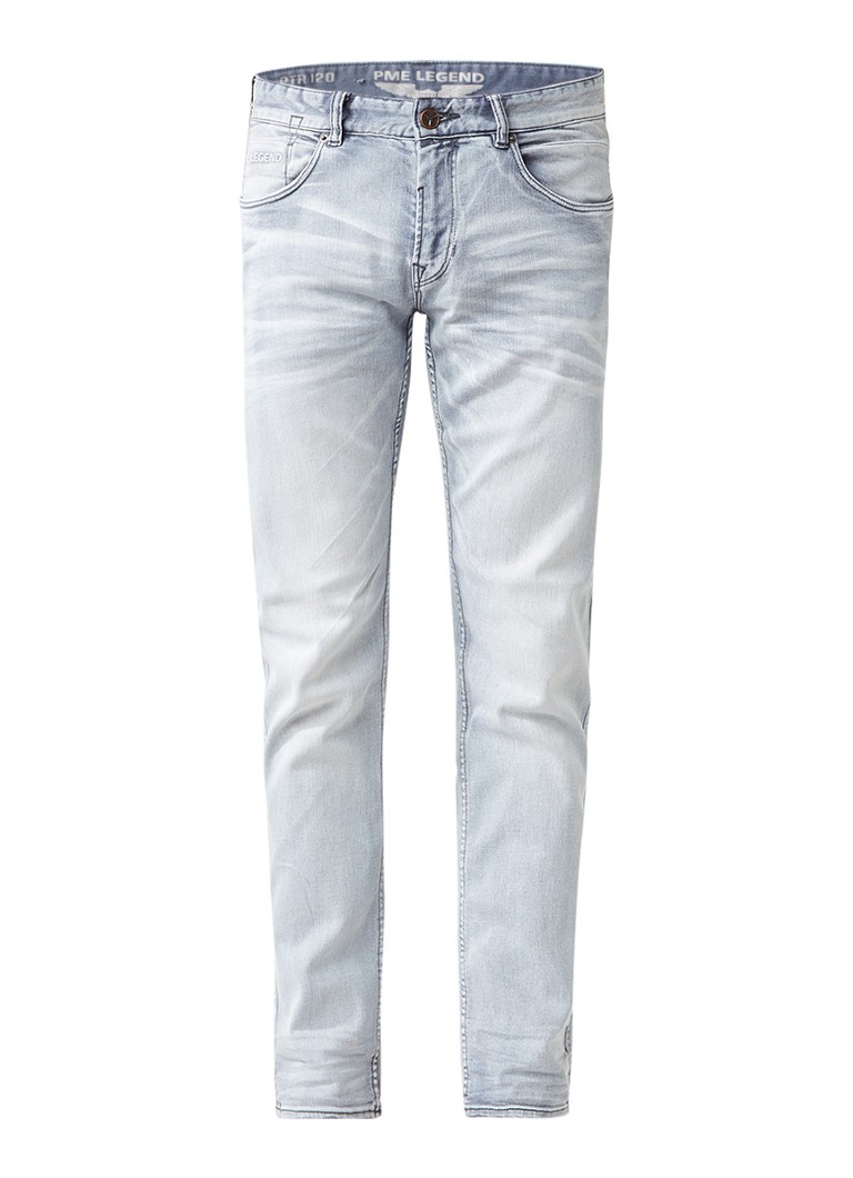 PME LEGEND Nightflight slim fit jeans in lichte wassing