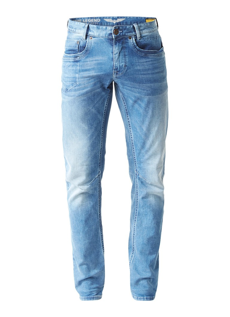 PME Legend Skymaster regular tapered fit jeans met faded look