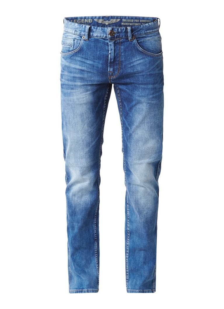 PME Legend Nightflight mid rise slim fit jeans met stretch