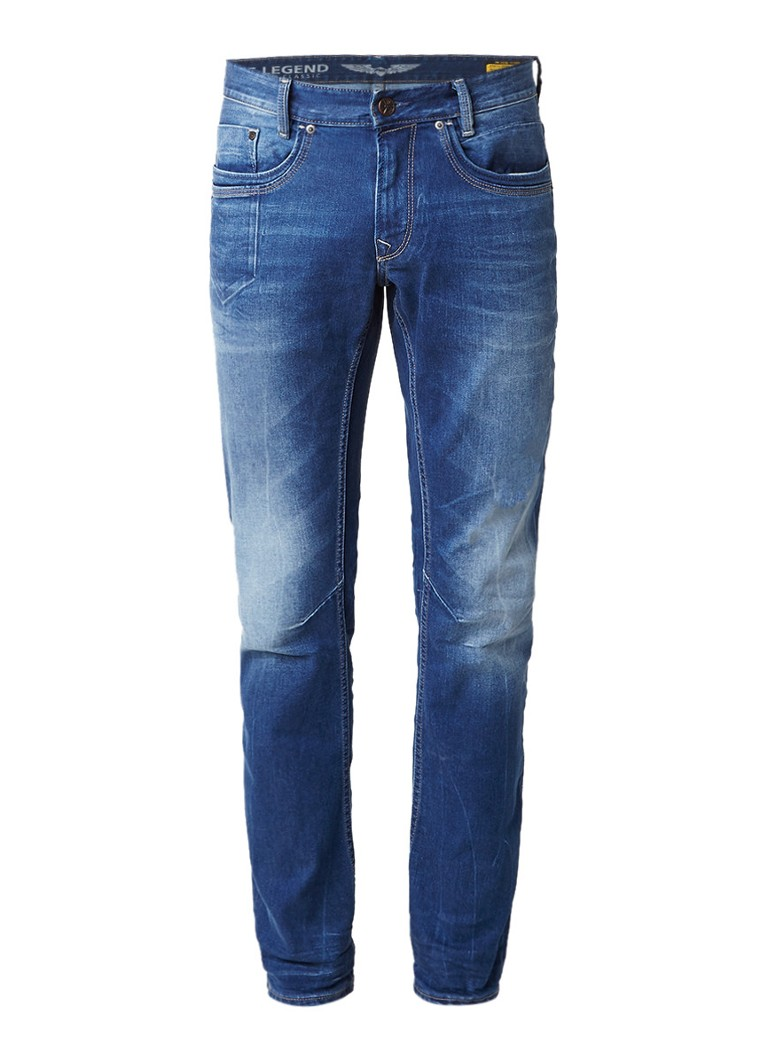 PME Legend Skymaster regular tapered fit jeans met faded details