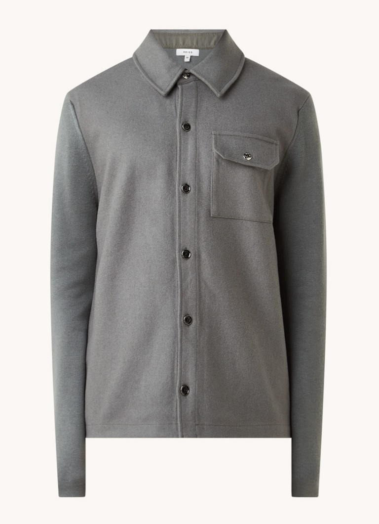 Reiss Sage overshirt in wolblend