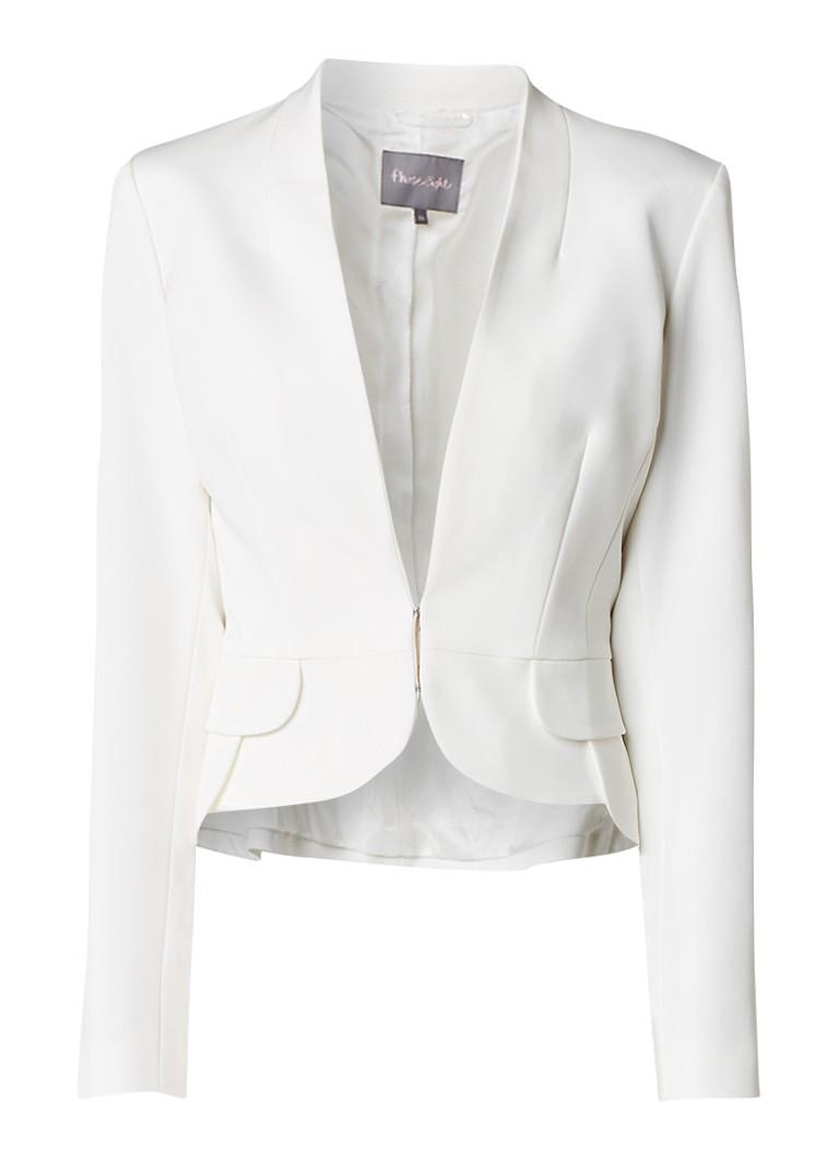 Phase Eight Elaina korte blazer met peplum wit