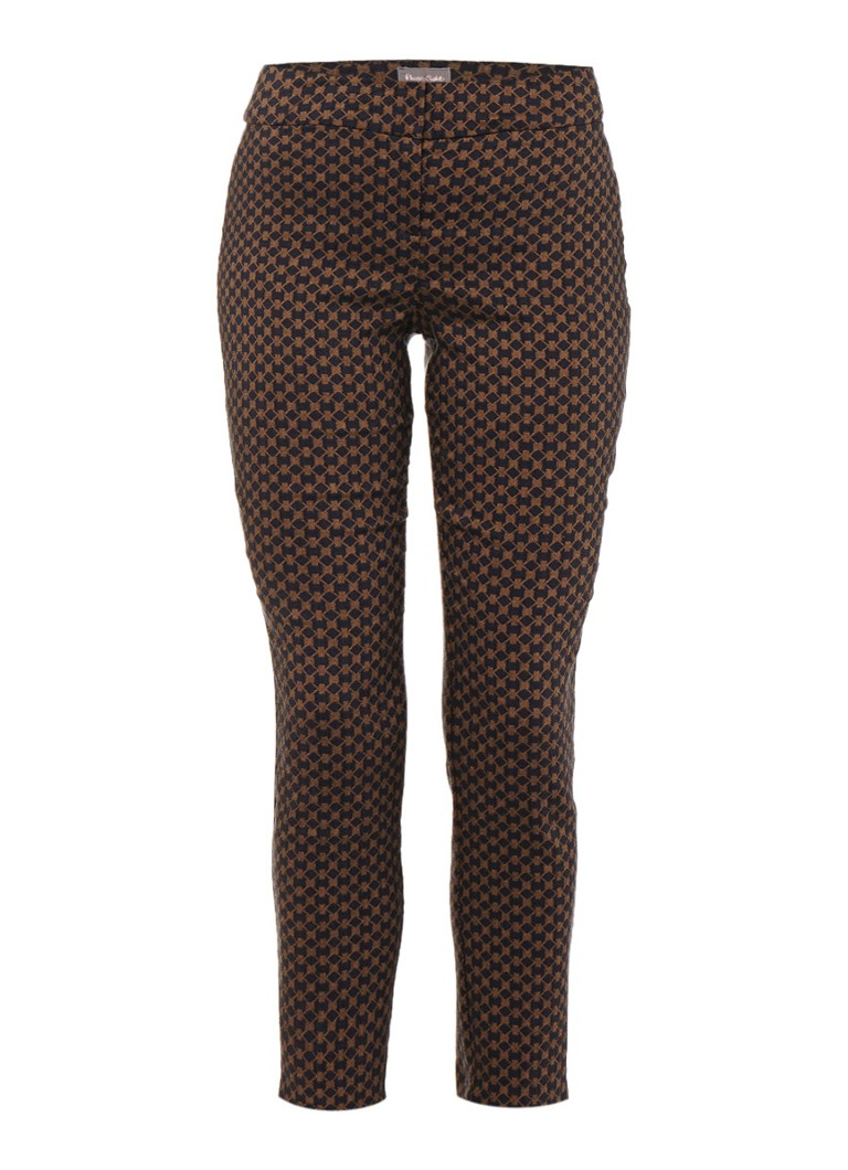 Phase Eight Erica pantalon in katoenblend met jacquard dessin wit