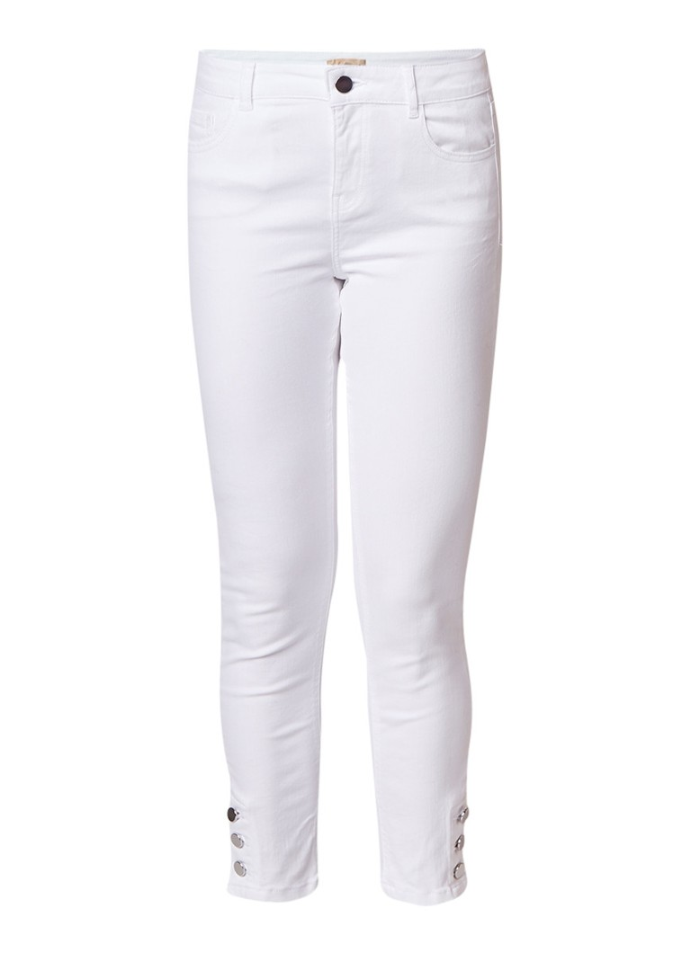 Phase Eight Billie high rise cropped slim fit jeans met knopen