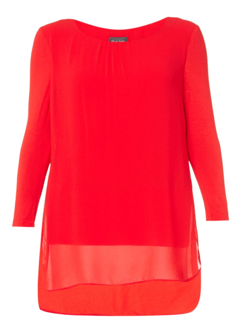 Phase Eight Bonnie top met overlay wit