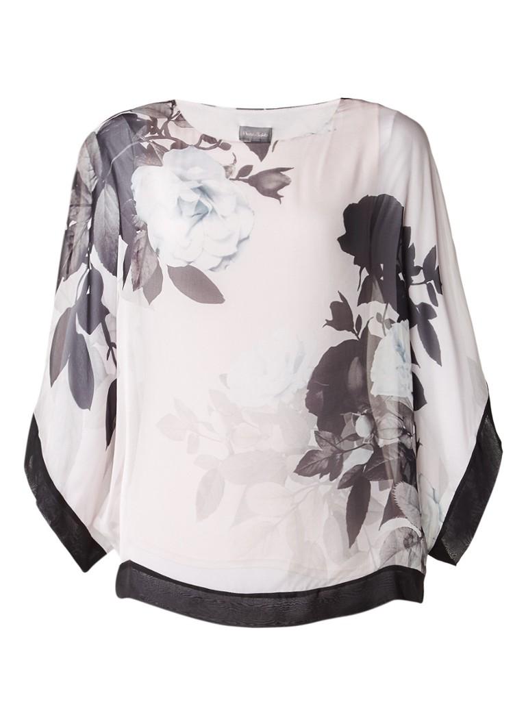 Phase Eight Anabelle kimonotop van zijde wit