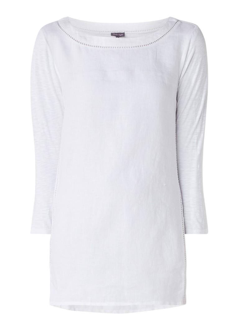 Phase Eight Gia tuniek van linnen met opengewerkt detail wit