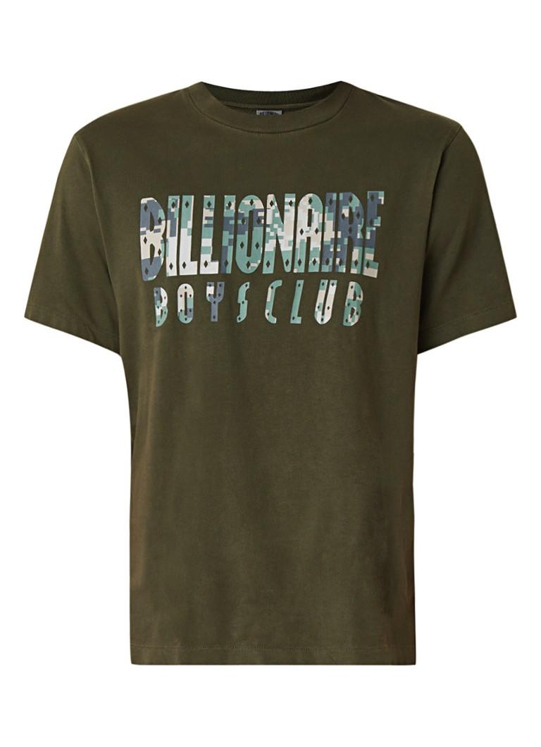 Billionaire Boys Club Overdye Digi Camo T-shirt met logoprint