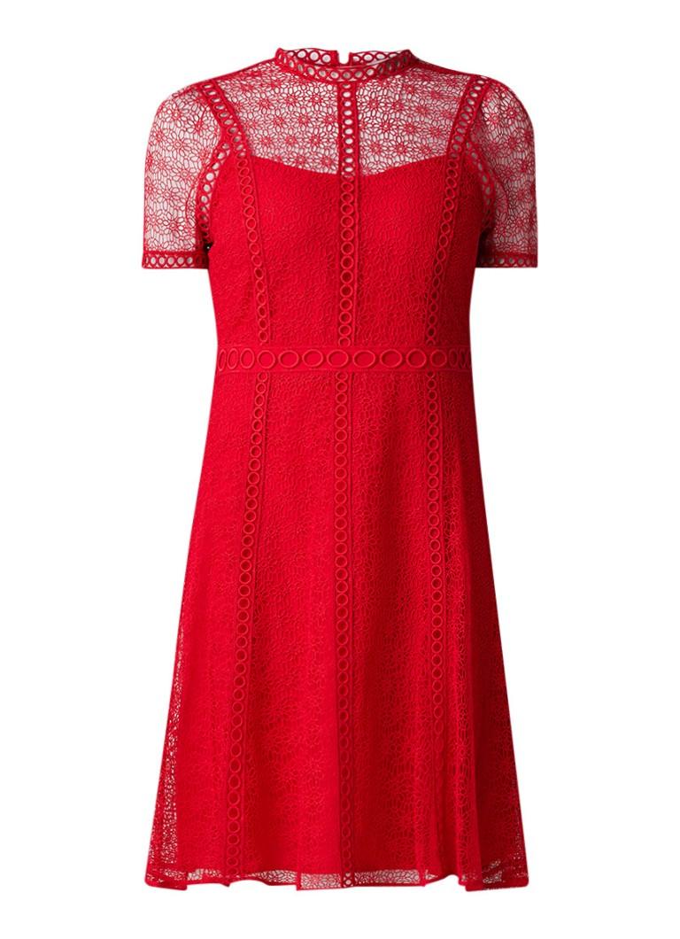 Michael Kors A-lijn jurk van kant rood
