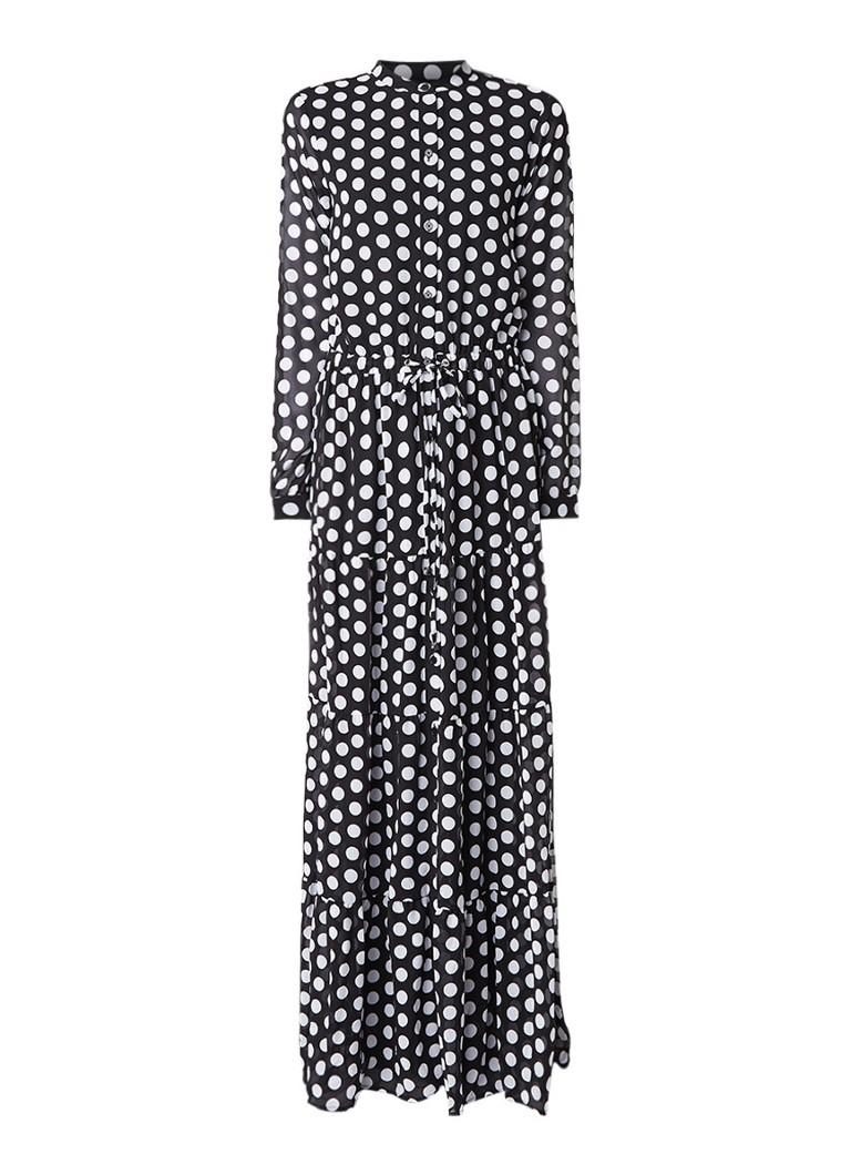 Michael Kors Lottie maxi-jurk met polkadots zwart