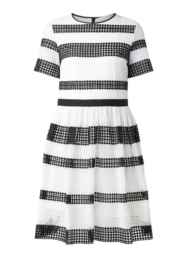 Michael Kors A-lijn jurk met streepdessin zwart