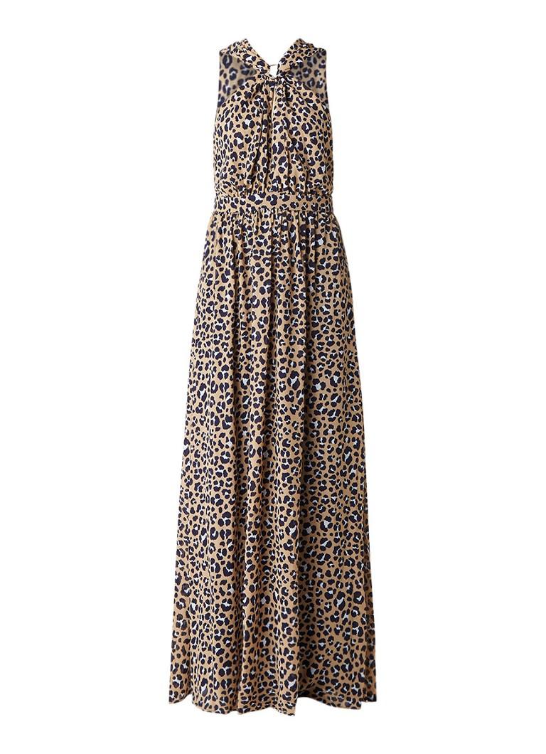 Michael Kors Lenus maxi-jurk met luipaarddessin donkerblauw