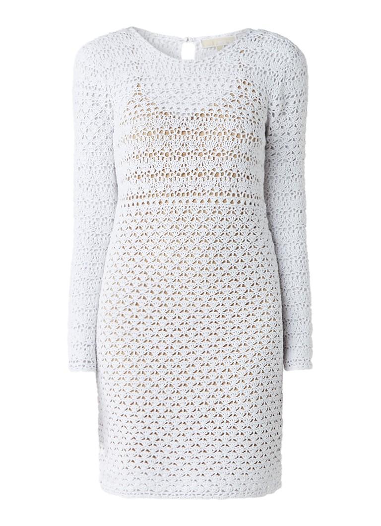 Michael Kors Crochet jurk met onderjurk wit