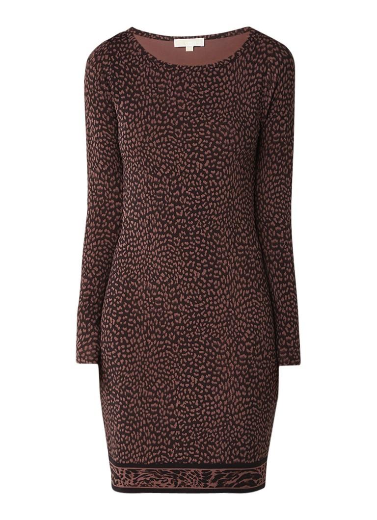 Michael Kors Bodycon jurk van jersey met luipaarddessin bruin