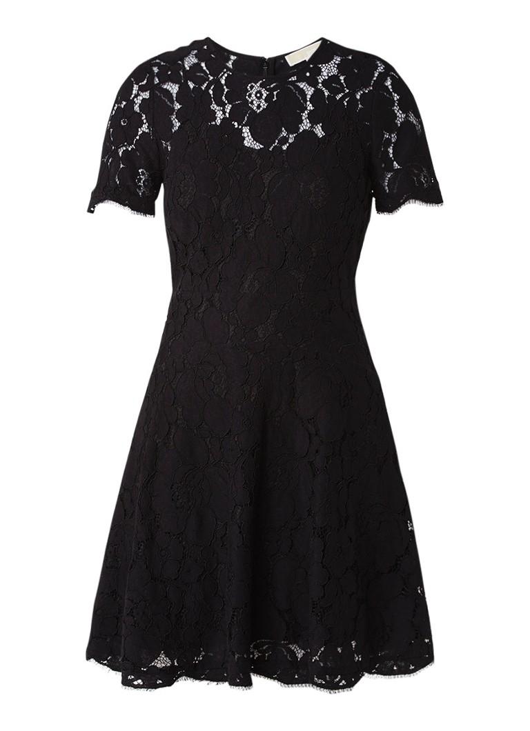 Michael Kors Scoop A-lijn jurk van kant zwart