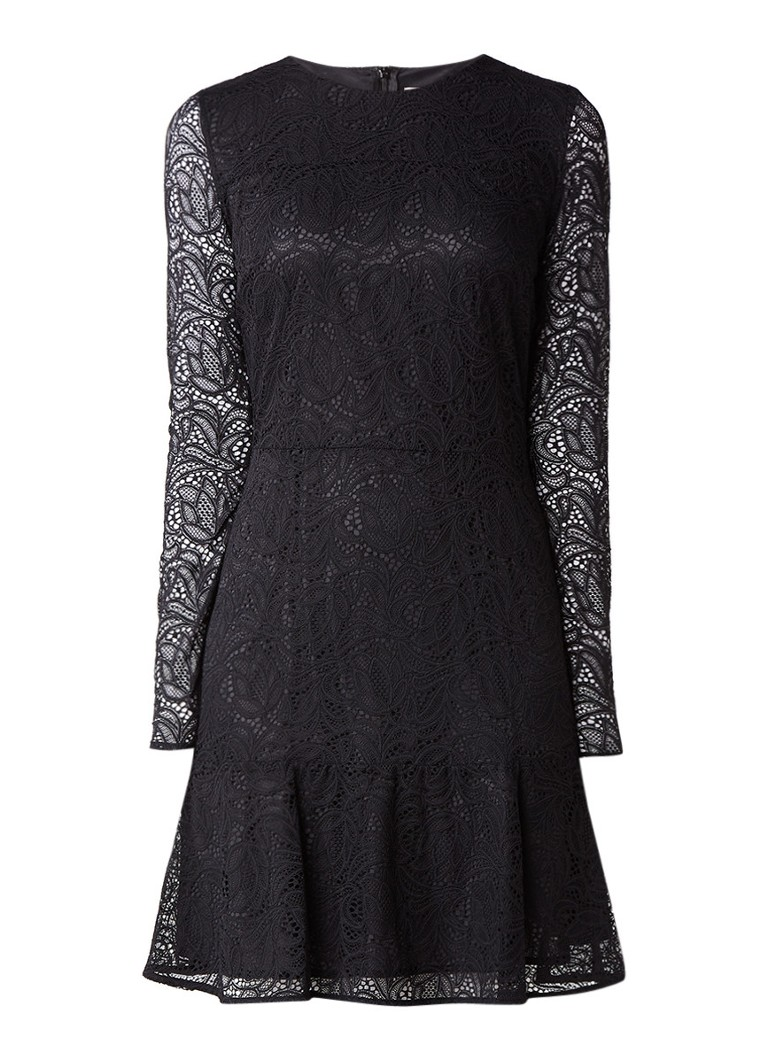 Michael Kors A-lijn midi-jurk van kant zwart