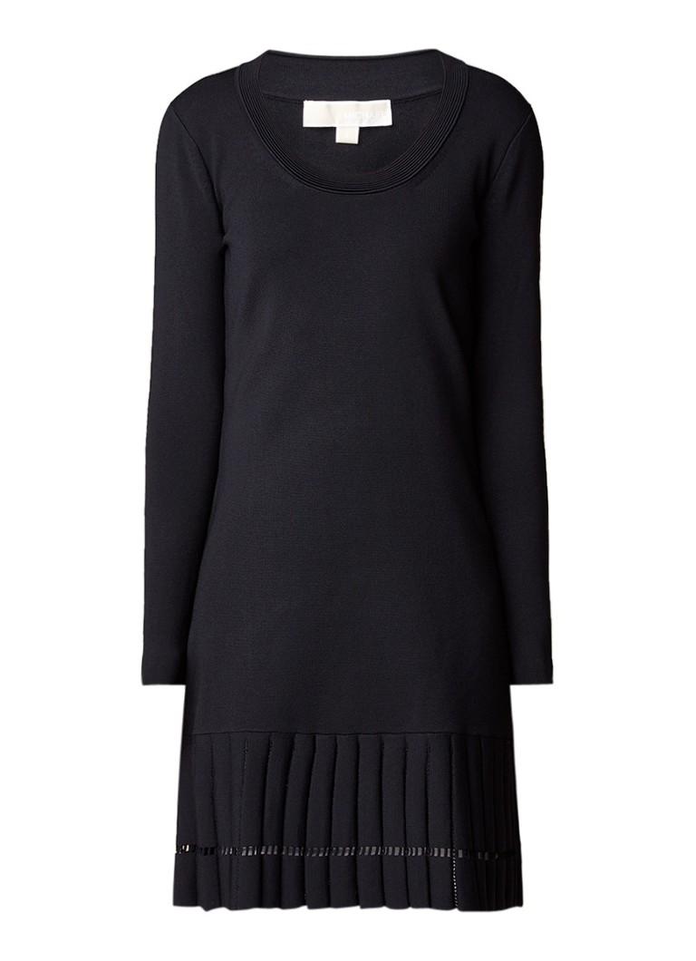 Michael Kors A-lijn jurk van jersey met plooien zwart