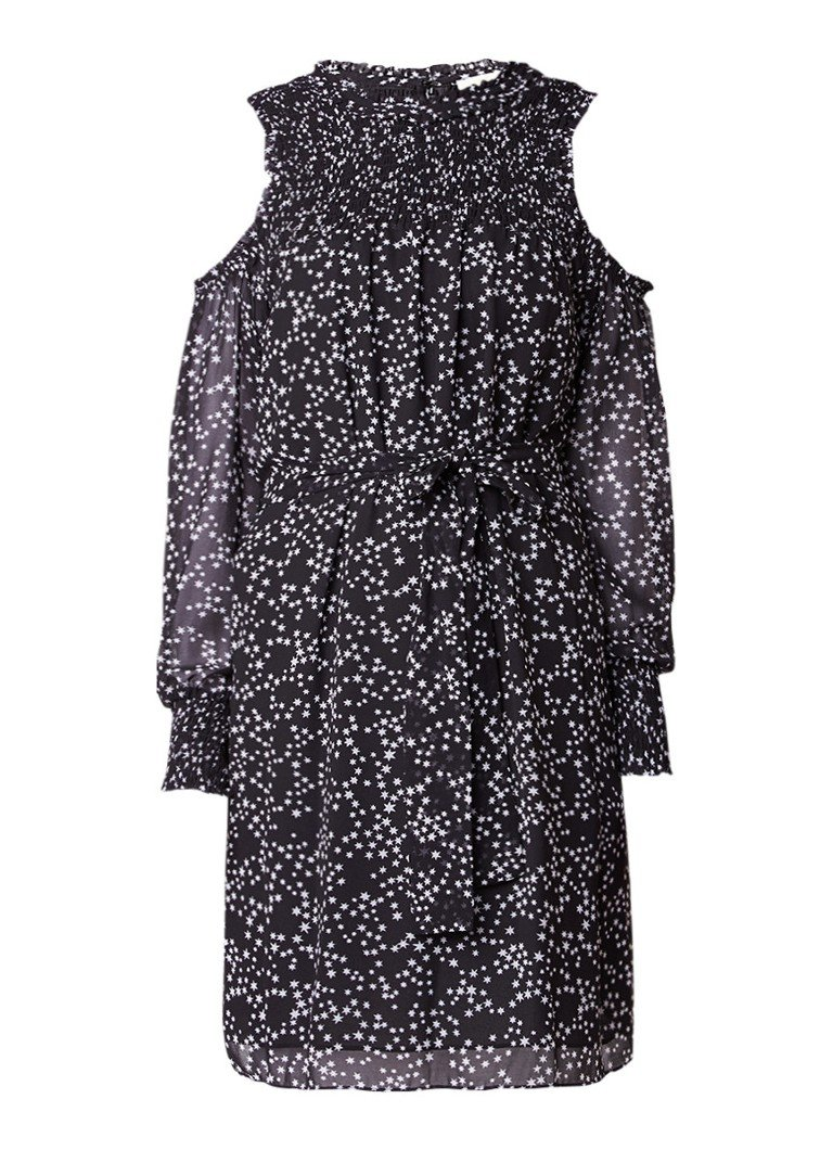 Michael Kors Shooting Star cold shoulder jurk met sterrenprint